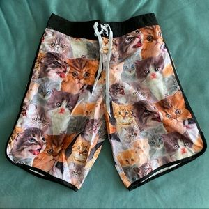 Men's Cat Swim Trunks